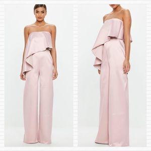 PEACE + LOVE Rose Pink Mauve Pantsuit Jumpsuit